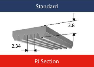 PJ Section Poly V