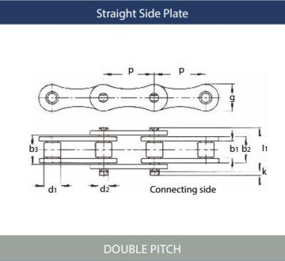 Marathon Double Pitch Maintenance-Free Roller Chains