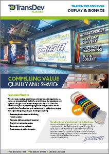 Signage Industry Focus Brochure